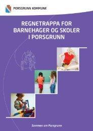 Regnetrappa for barnehager og skoler - Porsgrunn Kommune