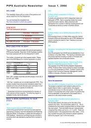 PIPS Australia Newsletter, Issue 1, 2003 - The University of Western ...