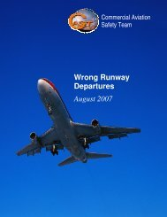 Wrong Runway Departures - Commercial Aviation Safety Team