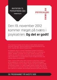 Psykiatriens dag - Personaleweb