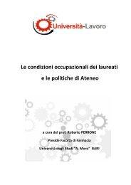 sbocchi e condizioni occupazionali post-laurea - Farmacia