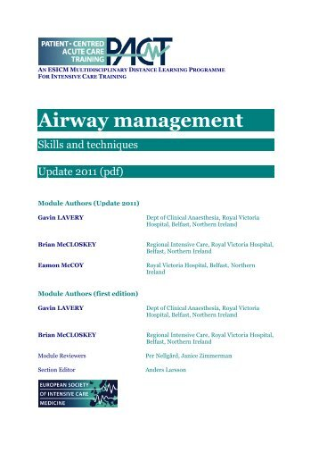 Airway management - PACT - ESICM