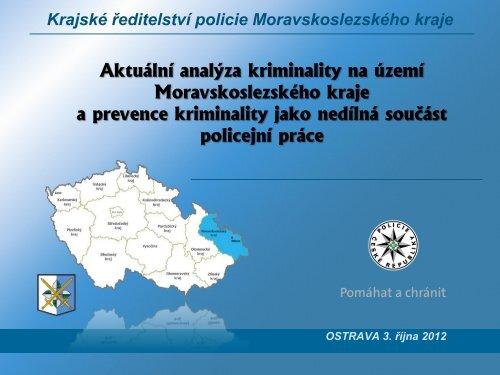 Vývoj kriminality v MSK v roce 2012 - Moravskoslezský kraj