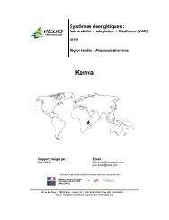 Systèmes énergétiques : - HELIO International