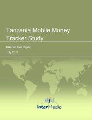 Tanzania Mobile Money Tracker Study - AudienceScapes