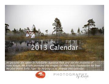 2013 Calendar - PAN Parks