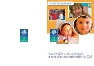 Les aides financières aux partenaires - Caf.fr