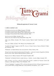 Bibliografia aggiornata di Vincenzo Cerami 1. [Libri e contributi vari ...