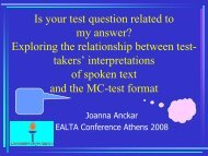 Exploring the relationship between test-takers - ealta