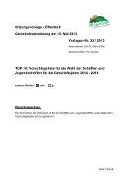 TOP 10 Vorschlagsliste für die Wahl der Schöffen und ... - Mainhardt
