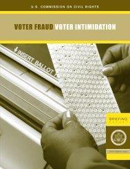 Voter Fraud and Intimidation - U.S. Commission on Civil Rights