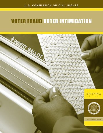 Voter Fraud and Intimidation - U.S. Commission on Civil Rights