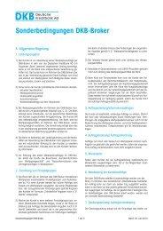 Sonderbedingungen DKB-Broker - Deutsche Kreditbank AG