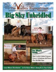 August/Sept 2011 - The Valley Equestrian Newspaper