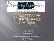 Evaluating an Evidence-based Program - Pennsylvania Mental ...