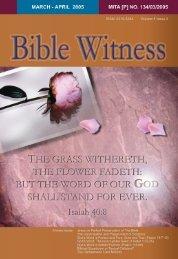 Preservation Of God's Word - Bible Witness Media Ministry