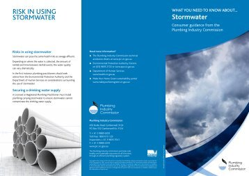 Stormwater - Plumbing Industry Commission