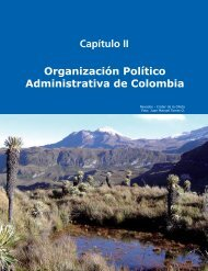 Capítulo II Organización Político Administrativa de Colombia