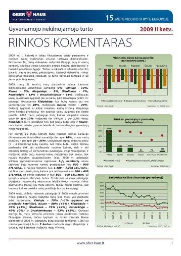 Gyvenamojo NT rinkos komentaras 2009 m. II ketv. - Ober-Haus