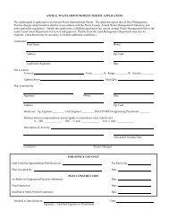animal waste impoundment permit application - Pierce County