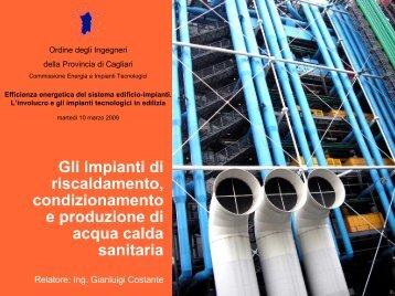 Gli impianti di riscaldamento, condizionamento e produzione di ...