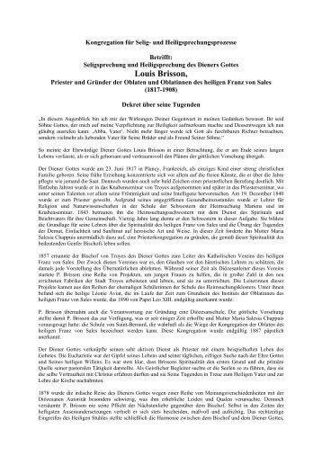 Louis Brisson - Franz Sales Verlag