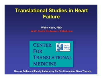 Translational Studies in Heart Failure - Institute for Translational ...
