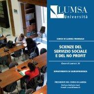 Guida al corso di laurea 2013/2014 - Lumsa