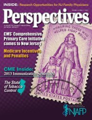 Perspectives - Volume 12, Issue 1 (2013) - New Jersey Academy of ...