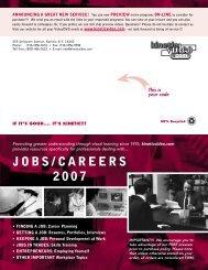 JOBS/CAREERS 2007 - Kinetic Video