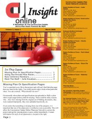 CU Online Insight Newsletter - March 2008 - Master Builders of Iowa