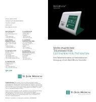 Merlin@home Transmitter Leitfaden für Patienten - St. Jude Medical