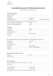 Anmeldeformular für Mietinteressenten - Ochlenberg