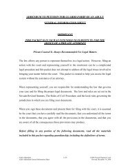 addendum to petition for guardianship of an adult general ...