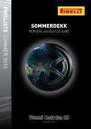 Nye miljøvennlige dekk Pirelli Cinturato - Gummi-Centralen AS