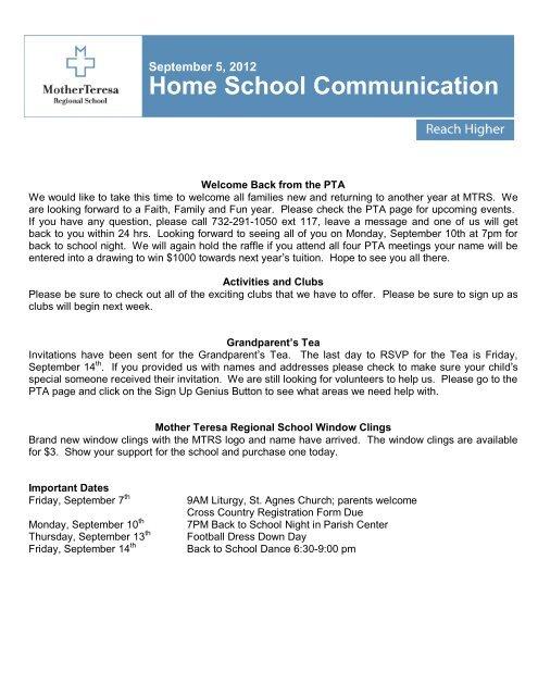 HSC090512 - Mother Teresa Regional School