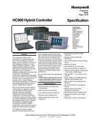 Controllers: Honeywell HC900 Hybrid Controller ... - Industrial Controls