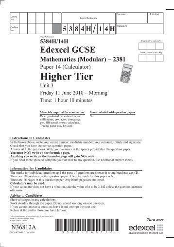 edexcel gcse maths unit 3 section b specimen terminal paper Readbag users suggest that n26349a gcse maths paper 3 higher tierindd is worth edexcel gcse mathematics unit 3 ­ section b specimen terminal paper time:.