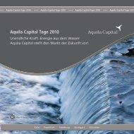Aquila Capital Tage 2010 - WMD Brokerchannel