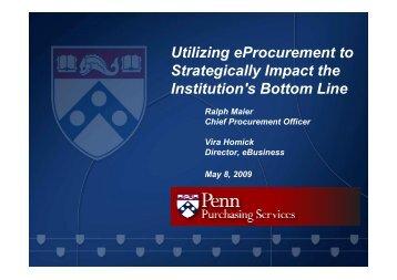 Utilizing eProcurement to Strategically Impact the Institution's Bottom ...