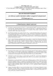 Obchodní podmínky účinné od 1.4.2013 - Prima