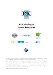 Arbocatalogus Intern Transport - Verbond P&K