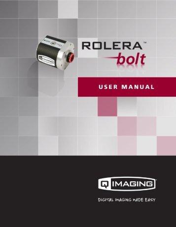 Rolera Bolt User Manual - QImaging