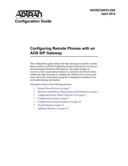 Configuration Comm