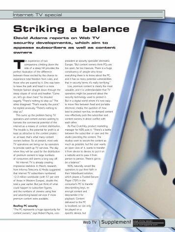 In pursuit of quality - CSI Magazine