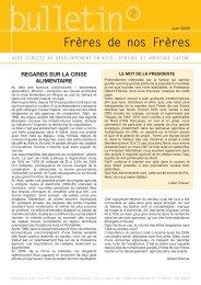 Bulletin Juin 2008 - Frères de nos frères