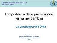 Oms, 2010 - Agenzia internazionale per la prevenzione della cecità
