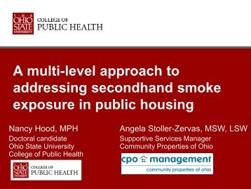 A multi-level approach to addressing secondhand smoke exposure ...