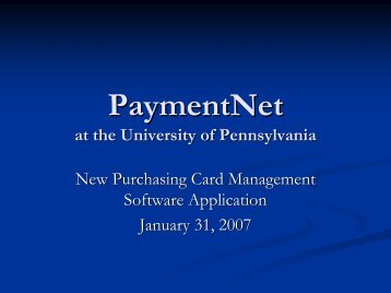 PaymentNet Purchasing Card Software Project Update Presentation