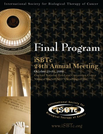 Download Final Program - Society for Immunotherapy of Cancer